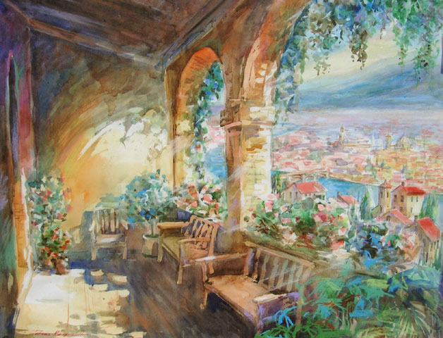 Balcony in Florence by Tatiana Rhinevault - Click for Details